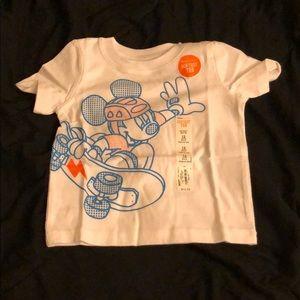 White Disney Mickey Mouse Tee Shirt, size 12 mos